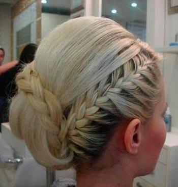 греческая прическа с косами