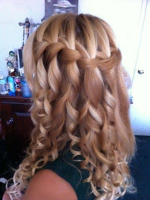 Изумительная коса водопад: