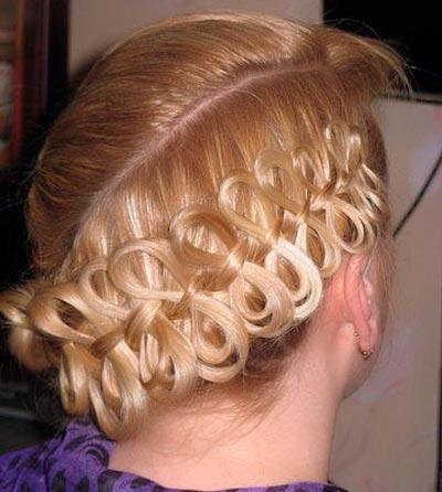 коса бантики