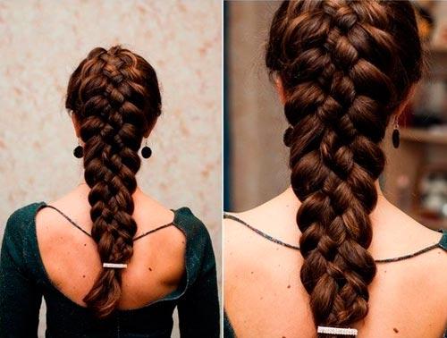 Плетение французской косы из 5