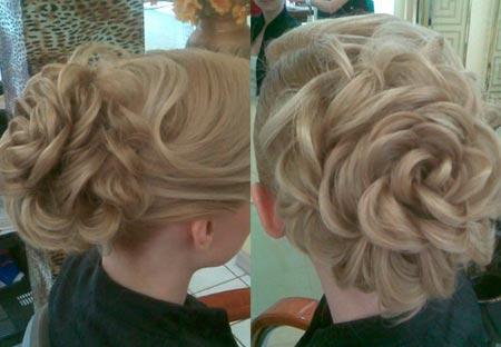 Прическа Роза из волос изоражения