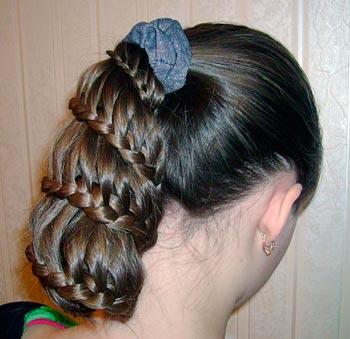 прическа коса колокольчик