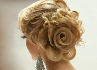Прическа Роза из волос картинки