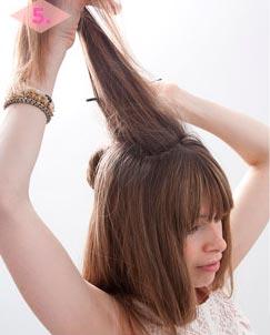 начес волос