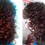 Завивка волос на крупные локоны