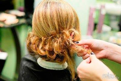 вечерняя прическа для коротких волос