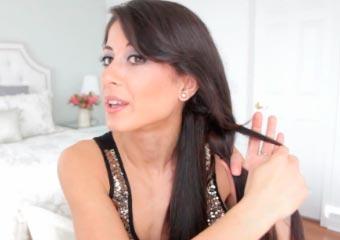 гладкие волосы - прическа