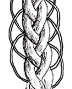 схема ажурной косы