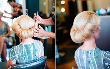 свадебная прическа на средние волосы