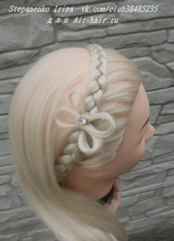 ободок коса