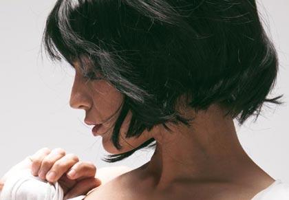 стрижка для густых волос