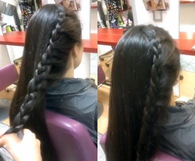 коса бантик