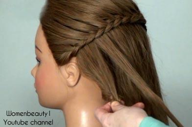 коса на длинные волосы