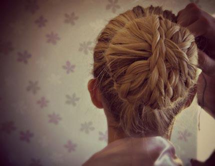 пучок на длинные волосы