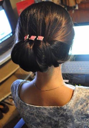 идея прически с петлей для волос