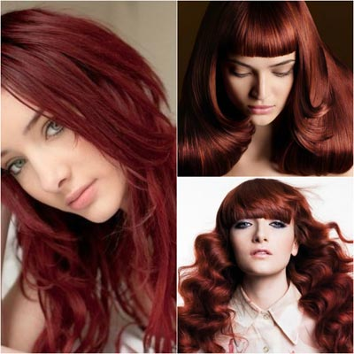 Темный медно красный цвет волос