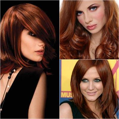 Каштаново рыжий цвет волос фото