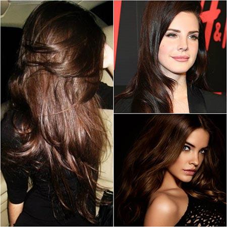 Фото волос коричневого цвета