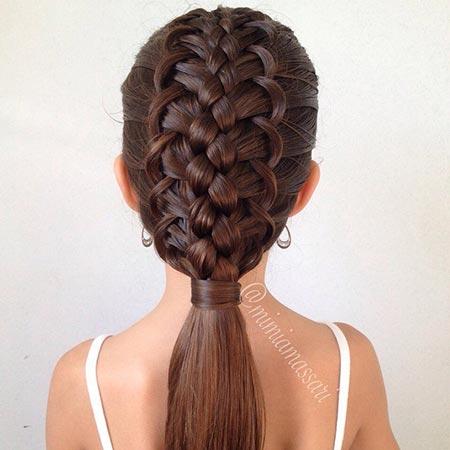 как заплести волосы к 1 сентября