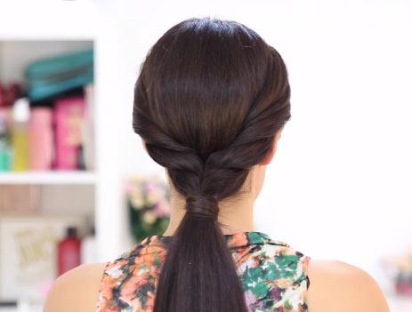 Как сделать хвостик с резинкой из волос