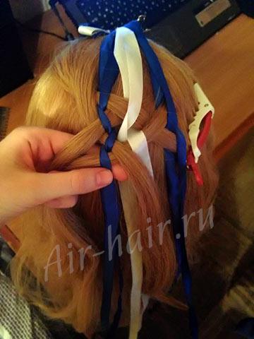 коса с лентамикоса с лентами