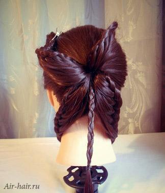 прическа орхидея