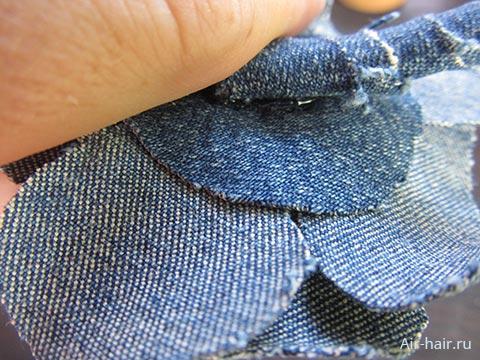 джинсовый ободок