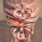 Длинная коса с лентами от Лены Роговой