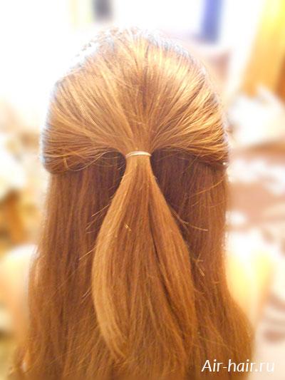прическа на распущенные волосы